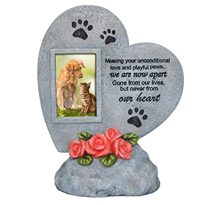 PETAFLOP Pet Memorial Stones Dog Cat Grave Marker Headstone Loss of Pet Gift