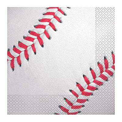 Baseball Party Napkins, 16ct: Kitchen & Dining