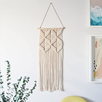 dfc53fab6028 Macrame Wall Hanging Woven Tapestry - BOHO chic mid century modern  geometric design - Modern Nursery