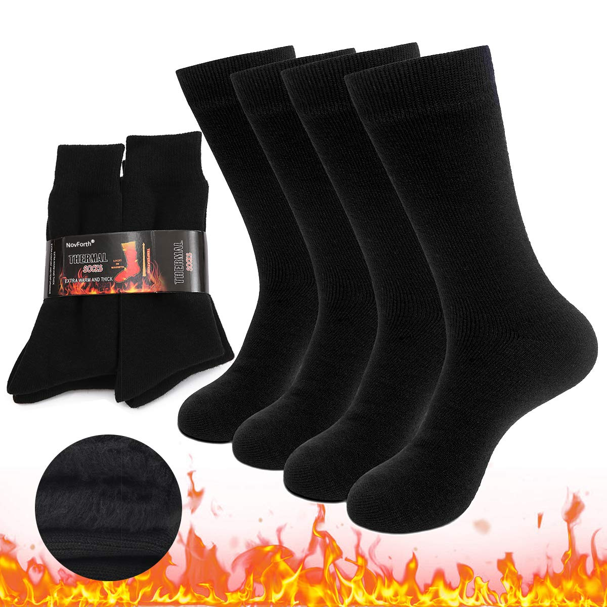 NovForth 2//3//4 Pairs Thick Thermal Socks Insulated Heated Heavy Warm Socks For Winter Cold Weather