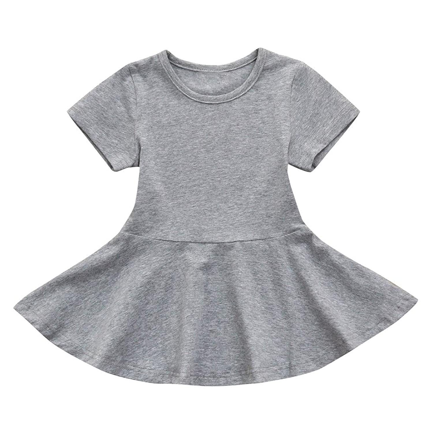 f25b503299bc ❤Material:Cotton blend❤1PC Candy Color Short Sleeve Sundress Dresses ❤ ❤NEW  HOT! ❤belle dress for toddler girls dress for toddler girls polo dress for  ...