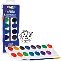 Prang Washable Watercolor Set, 16 Classic Colors with Brush, Assorted Colors (16016)