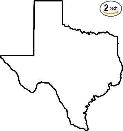Outline Of Texas Map.Amazon Com Texas Map Outline Black Set Of 2 Premium Waterproof