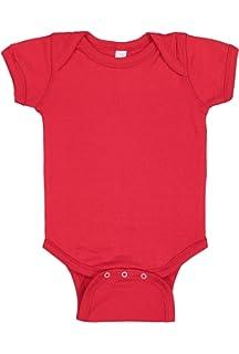 3c6e5d35f6 Rabbit Skins Infant 100% Cotton Jersey Lap Shoulder Short Sleeve Bodysuit