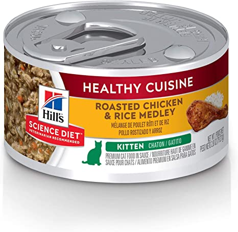 hills science diet cat food for a month