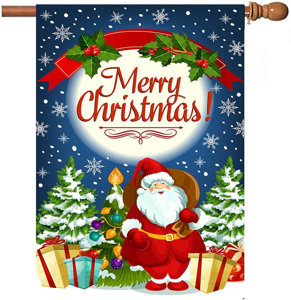SANTA AT THE NORTH POLE FLAG 5/' x 3/' Merry Happy Xmas Father Christmas Party
