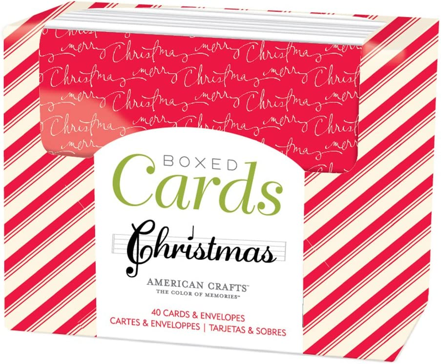 40 Pack American Crafts Boxed Cards North Pole Cards /& Envelopes