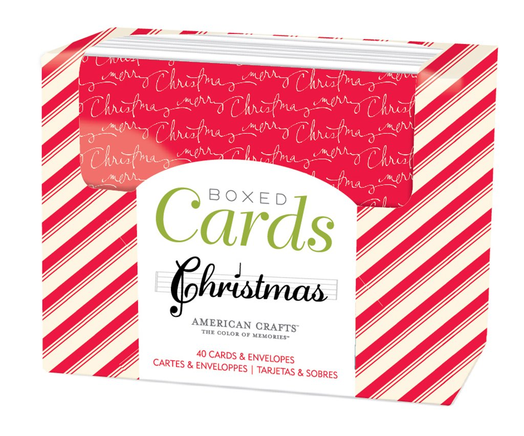 American Crafts 369590 Heidi Swapp Boxed Cards Oh What Fun Cards & Envelopes (40 Pack)
