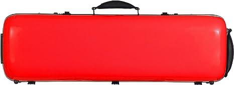 Estuche para violín fibra Safe Oblong 4/4 Rojo M-Case: Amazon.es: Instrumentos musicales