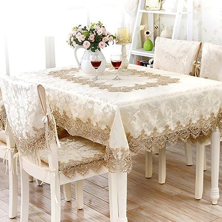 HOMEE Mesa de tela de estilo europeo Tela de tela mantel de jardín ...