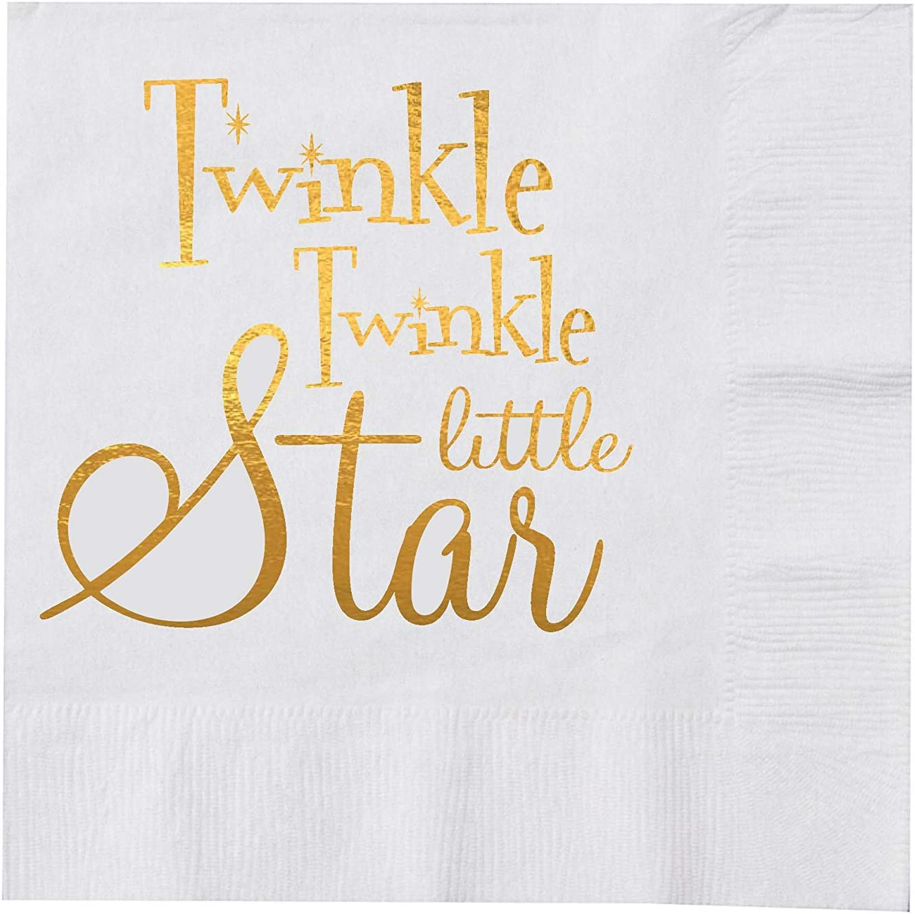 """16 Twinkle Twinkle Little Star Boy/'s Happy 1st Birthday Party 6.5/"""" Lunch Napkins"""