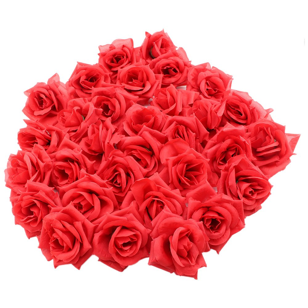 Amazon 100 Silk Red Roses Flower Head 175 Artificial