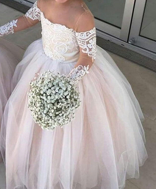 Amazon.com: yeoyaw niña de las flores Off hombro vestidos de ...