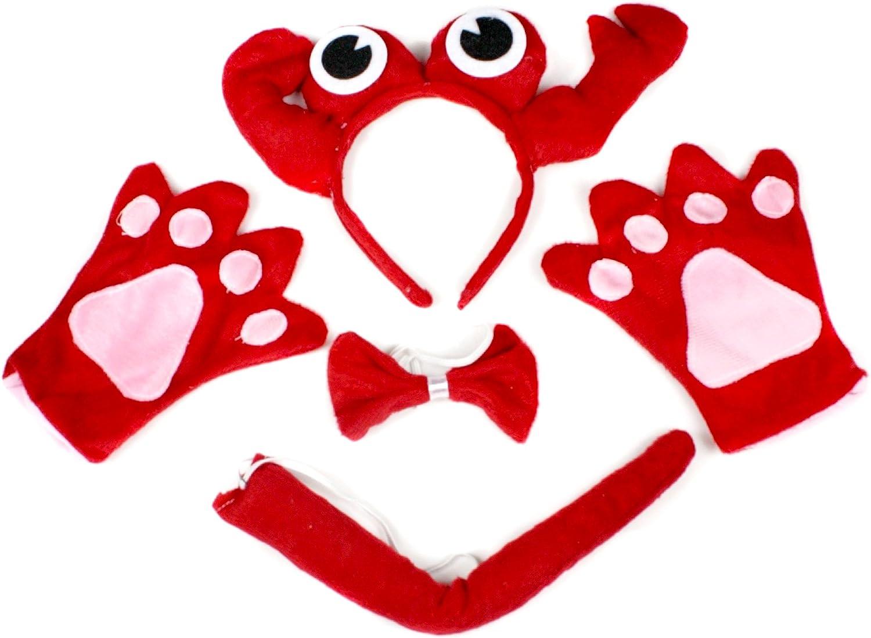 petitebelle Crabe rouge bandeau Noeud Papillon Queue Gants Costume ...