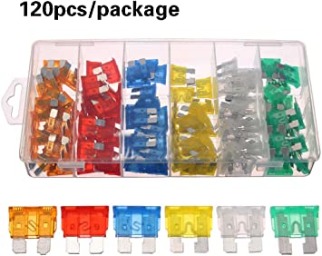 Mini Truck Boat Motorcycle Case Assorted Blade FUSES Kit Assortment Car Fuse