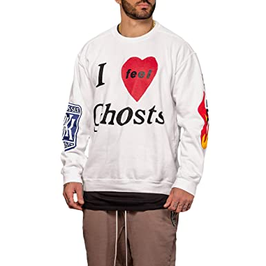 f3d27d022f87 KSG FREEEE Kanye West Kid Cudi Kids See Ghosts Camp Flog Gnaw White  Sweatshirt  Amazon.co.uk  Clothing