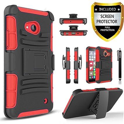 Amazon.com: Lumia 640 caso, Círculo (TM) Combo Rugged ...