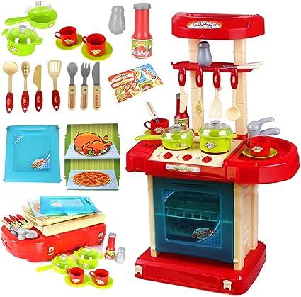 Details about  /Niños Infantil Cocina Juguete Juego de Imitación Falso Regalo Luz Y Sonido