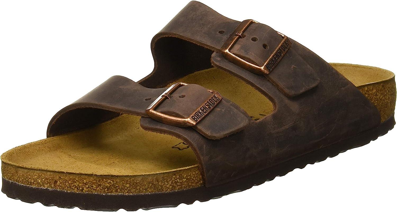 Birkenstock Arizona - Oiled Leather (Unisex) Habana Oiled Leather 40 (US Men's 7-7.5, US Women's 9-9.5) Narrow