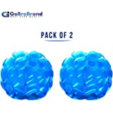 "GoBroBrand Bubble Bumper Balls 2 pack of Inflatable Buddy hamster Bbop Ball set - Used also as Giga Sumo Wearable human zorb soccer Suits for outdoor play. Size: 36"" For Kids & Adults of all ages"