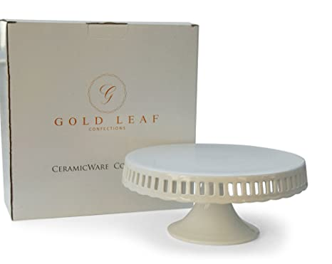 Amazon.com | Pedestal Footed Cake Stand with Interchangeable Ribbon ...