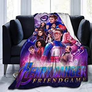 "Shooky D Henry Danger Ultra Soft Flannel Fleece Throw Blanket Light Weight Bed Couch Warm Blanket Living Room Decor 60"""" x50"