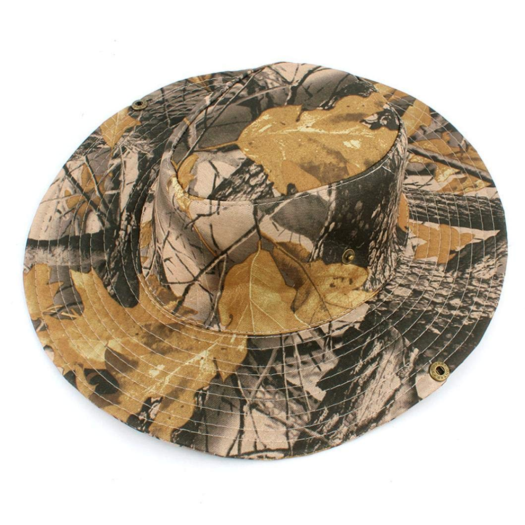 Suma-ma 8 Colors Unisex Bucket Camo Hat - Outdoor Cap Wide Brim Military Sun Hat with Adjustable Strap