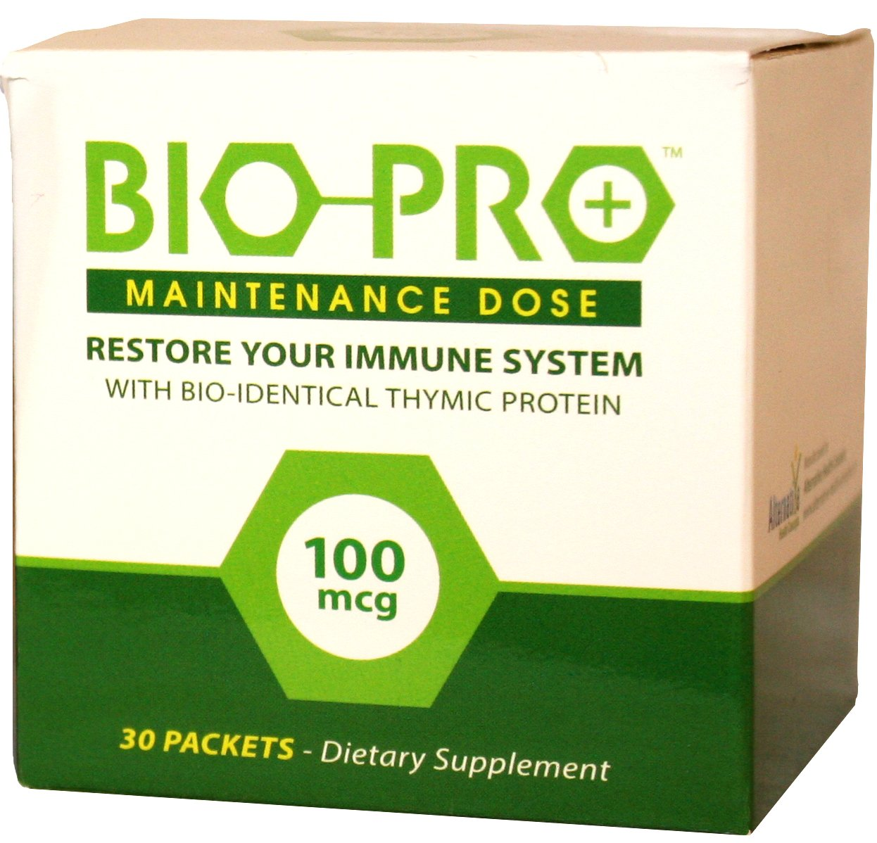 BioPro-Plus Immune Support Supplement with Zinc, Bioidentical Thymic Proteins Immune System Booster (100mcg Maintenance Dose) Nutritional Supplements, All Natural Ingredients