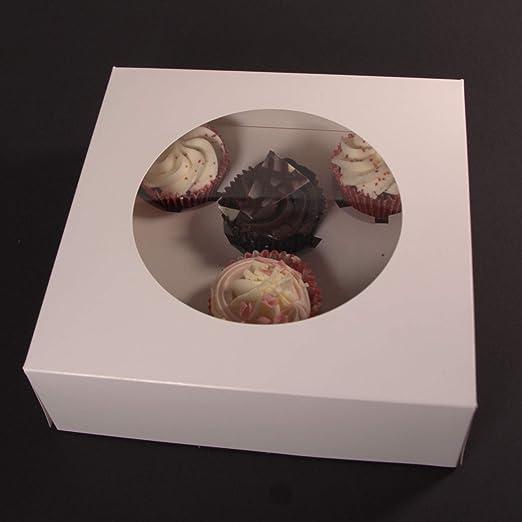 Star Estrella 6 Cupcake/Magdalena Caja de cartón Blanco para Tarta ...