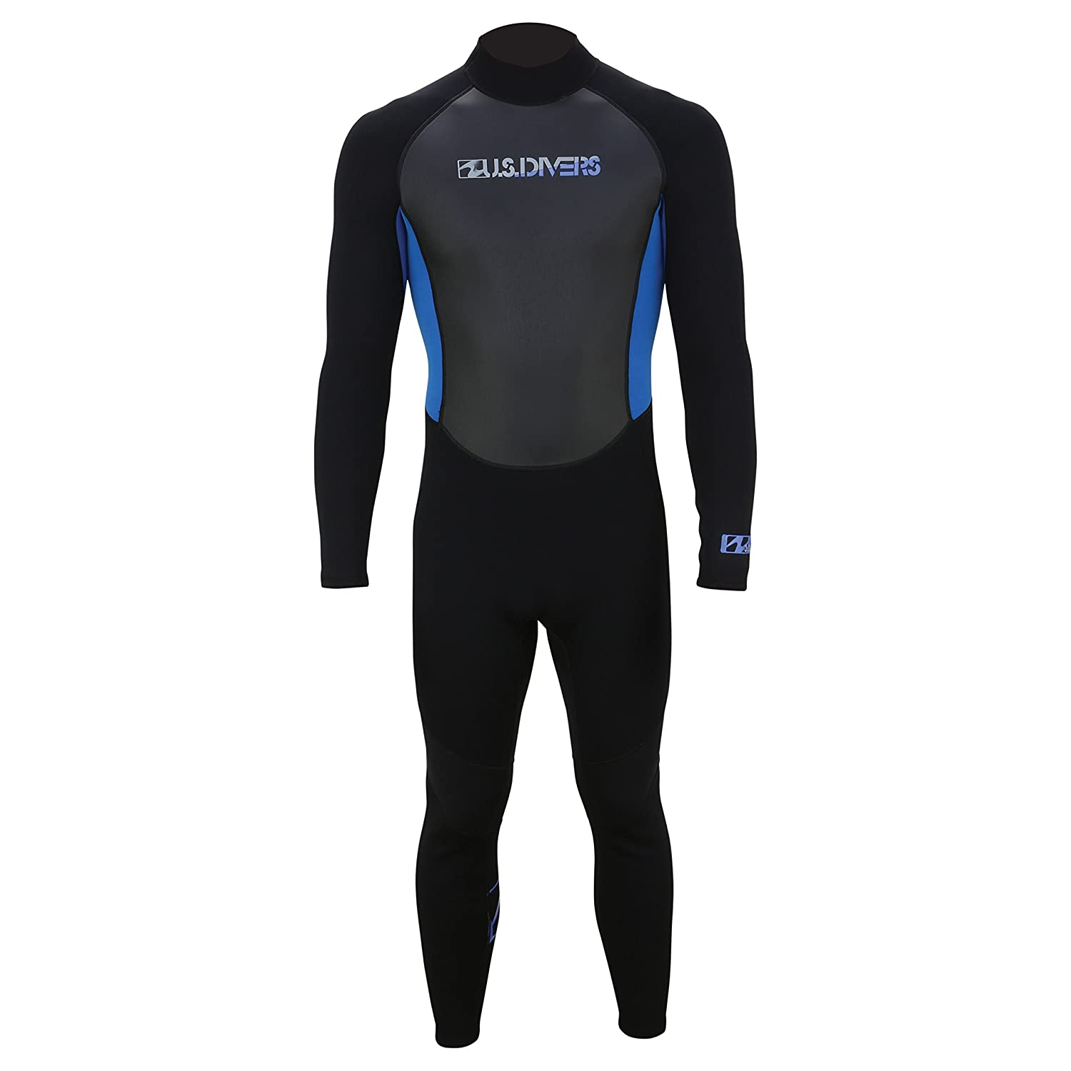 Image of Diving Suits U.S. Divers Adult 2015 Full Wetsuit, Black/Blue, X-Large