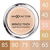 MAX FACTOR - Miracle Touch Face Foundation Make Up, Over 10 Different Cosmetic Shades Poducts To Choose From -