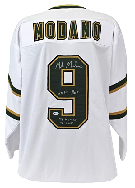 Stars Mike Modano quot Career Stat quot  Signed White Jersey BAS Witnessed  - Beckett Authentication - 26d8e64cc