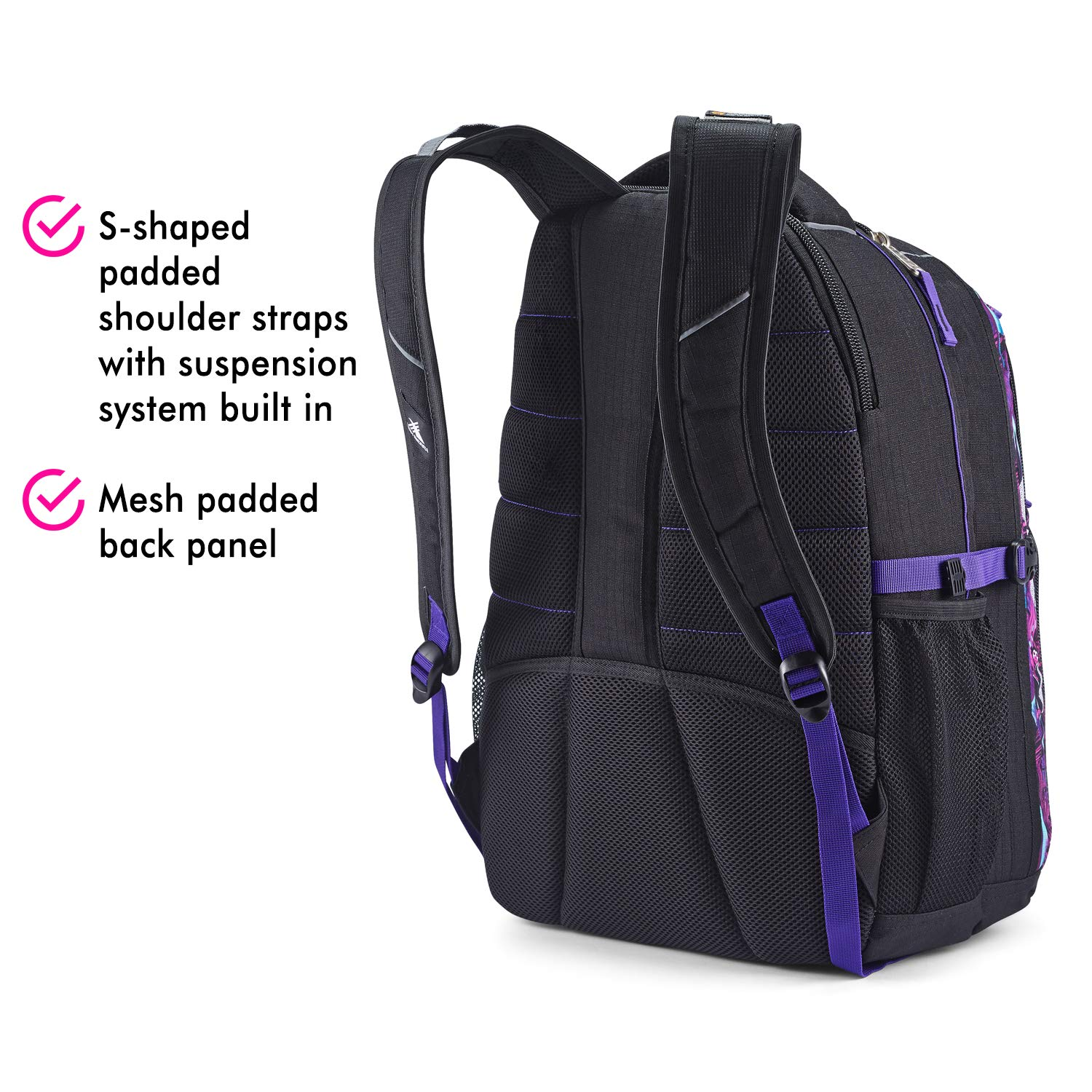 High Sierra Swerve Laptop Backpack, 17-inch Laptop Backpack for High School or College, Ideal Gaming Laptop Backpack, Large Compartment Student Laptop Backpack with Organizer Pocket by High Sierra (Image #5)