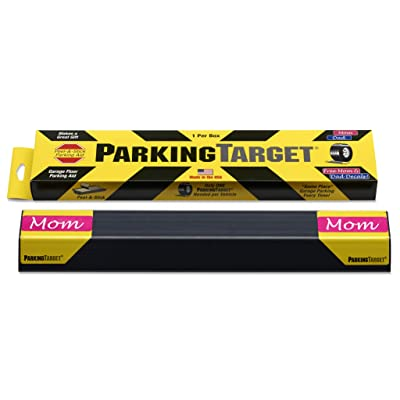 IPI-100: Parking Target - Parking Aid Protects Car and Garage Walls - Easy to Install – Peel and Stick - Only 1 Needed per Vehicle – Mom and Dad and USA Decals Included – Parking Gadget Great Gift: Office Products