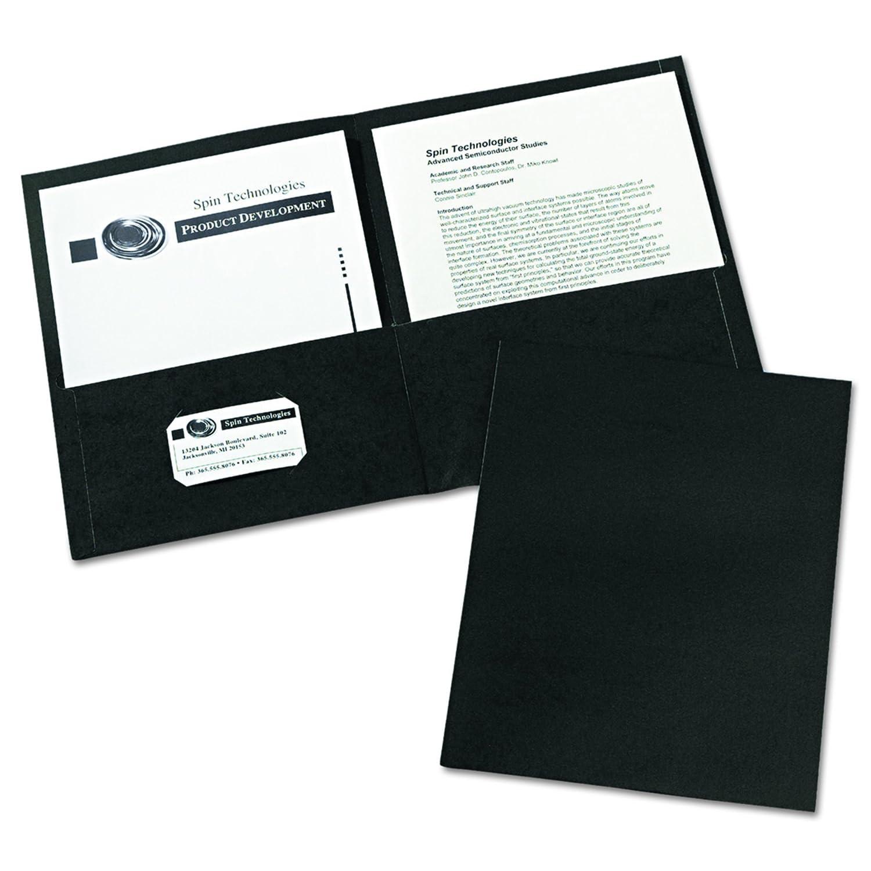 avery two pocket folders black box of 25