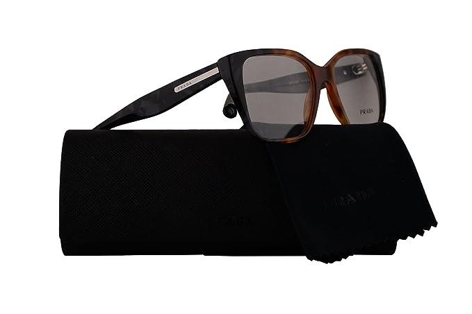e61e3ee3e50 Prada PR08TV Eyeglasses 51-16-140 Havana Grey w Demo Clear Lens ...