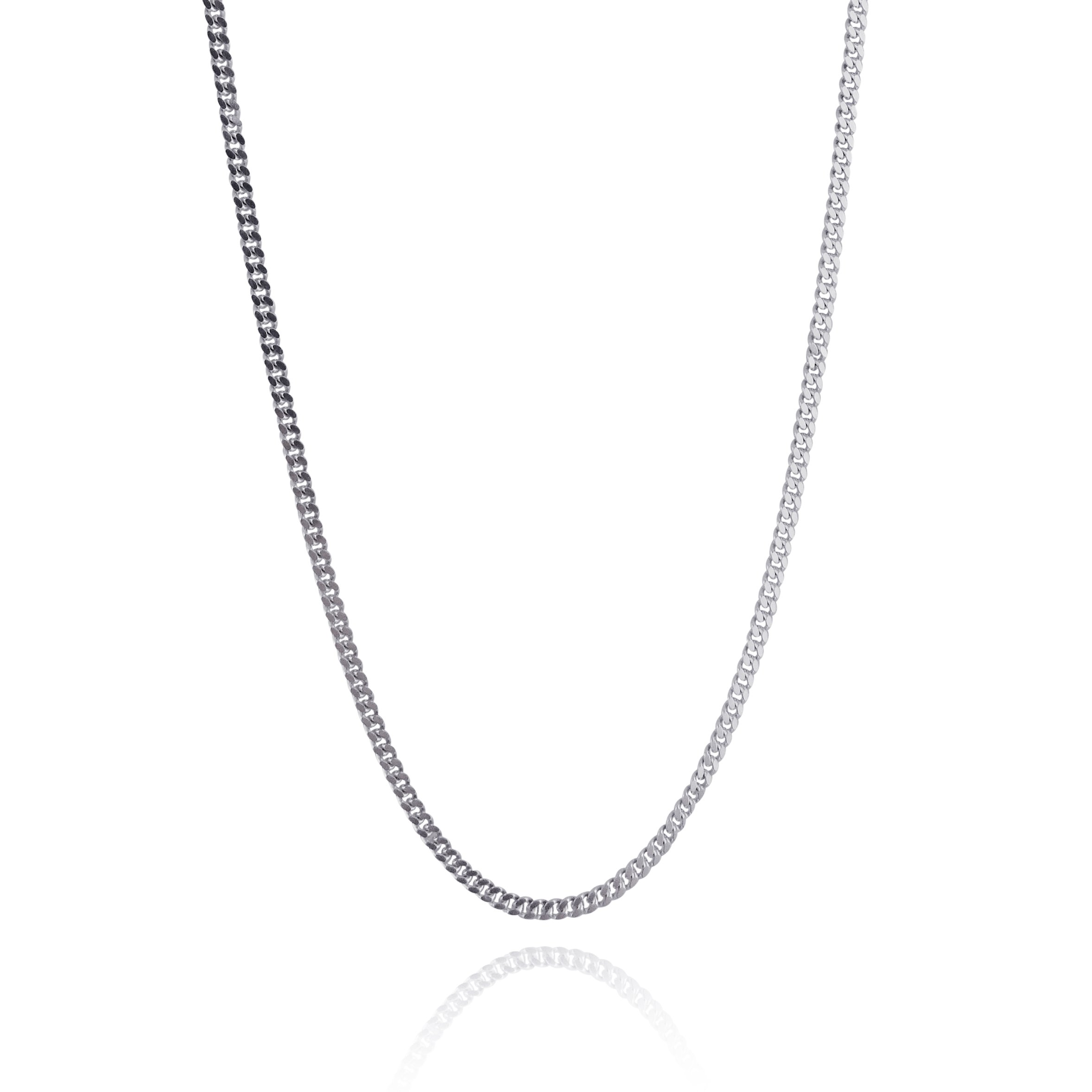 Extra Long Sterling Silver 2mm CURB Chain Link Necklace - 26'', 28'', 30'', 32'', 36'', 38'' (30)