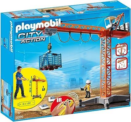 Amazon.com: Playmobil grande grúa con mando a distancia por ...