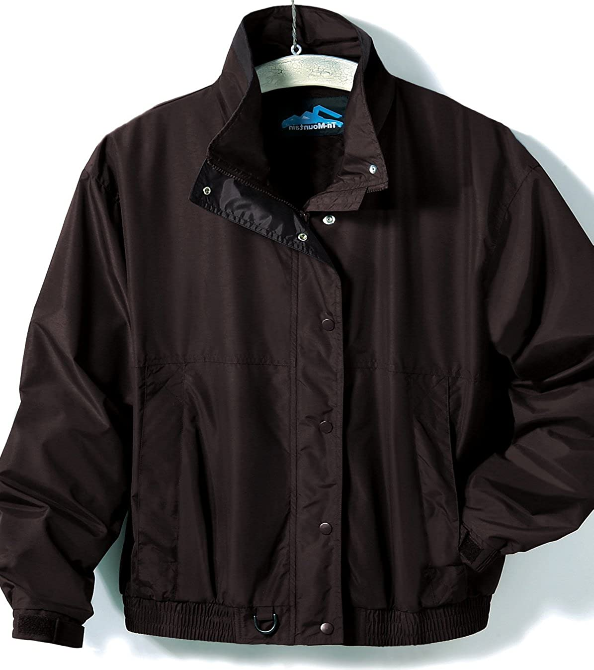 Premium Quality Men's Tall Sizes Heavyweight Nylon Back Country Jacket - Black A&E Designs TM6800T-BLK