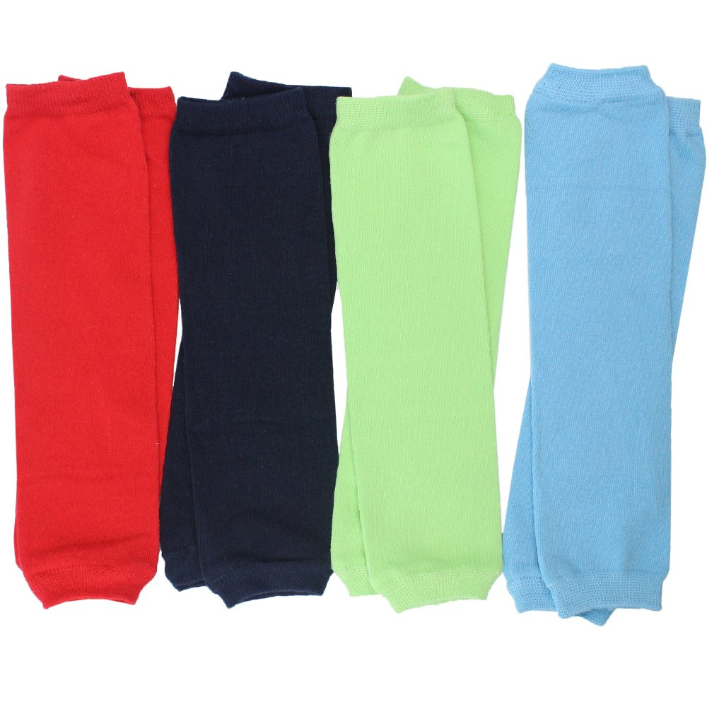 juDanzy 4-pack Baby & toddler Boys Solid Colors Leg warmers