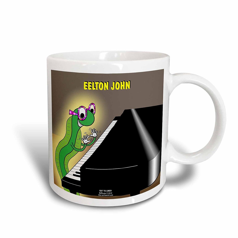 Multicolor 3dRose mug/_44464/_2Eelton John the piano player Ceramic Mug 15 oz