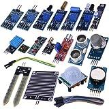 Kuman 16 in 1 Modules Sensor Kit Learning Package for Arduino UNO R3 Mega2560 Nano Raspberry Pi K62