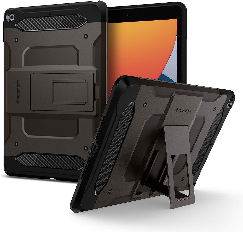 Spigen Tough Armor Tech Kompatibel Mit Ipad 10 2 Ipad 8 Generation Hülle 2020 Ipad 7 Generation Hülle 2019 Gunmetal Elektronik