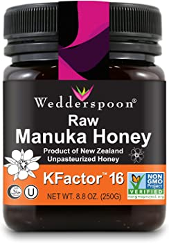 Wedderspoon 100% Raw Premium Manuka Honey KFactor 16+