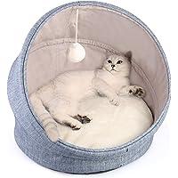 سرير قطط مزود بمظلة 2 في 1 قابل للغسل في الغسالة مقاس 18 انش للقطط والكلاب الصغيرة بقاعدة مضادة للانزلاق ومقاومة للماء…
