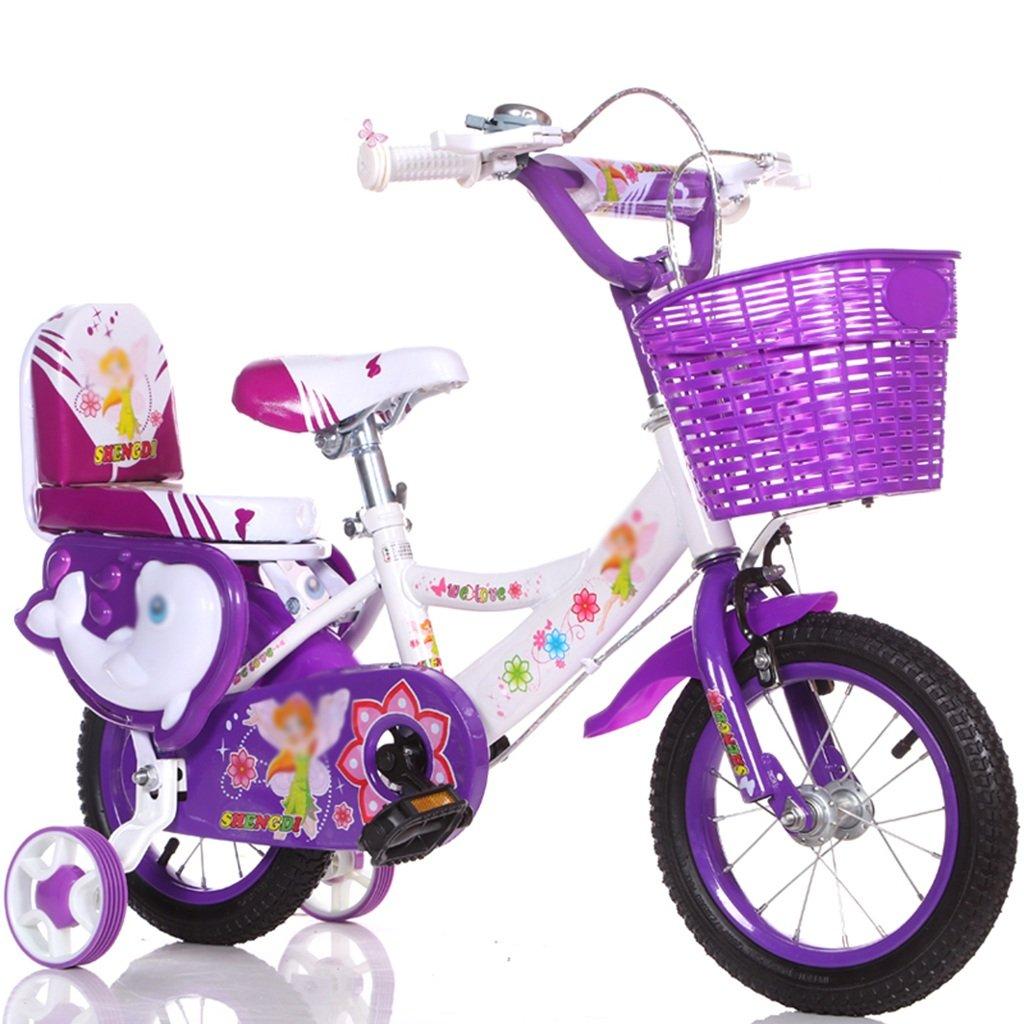 QFF ファッション自転車、男の子、女の子自転車自転車小児パーソナル自転車2-9歳の赤ちゃん補助ホイール自転車90-120CM ZRJ (色 : パープル ぱ゜ぷる, サイズ さいず : 100CM) B07DNZQ1BDパープル ぱ゜ぷる 100CM