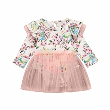 c5bcb8e9ceca Buy 18-24 Month Webla Baby Girls Swan Floral Print Tulle Tutu Ruffles  Romper Dress Online at Low Prices in India - Amazon.in