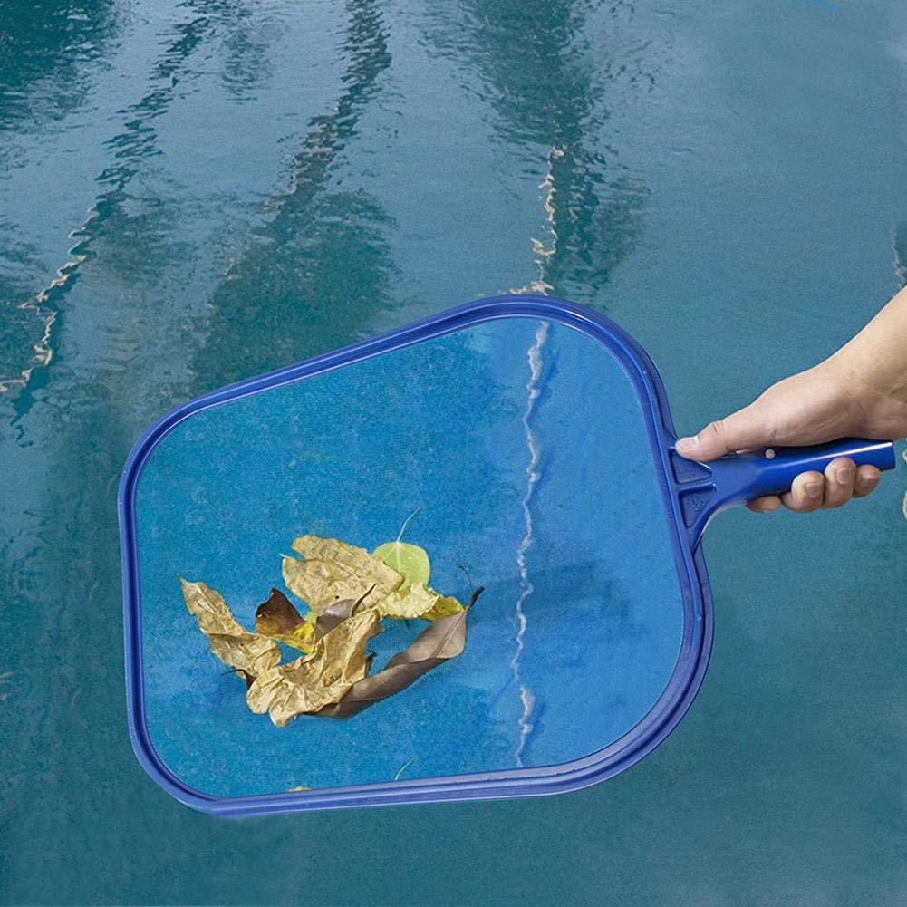 libelyef Recogehojas para Piscinas Recoge Hojas Pool Net Leaf Skimmer Red De Recogehojas para Mantenimiento De La Piscina De Limpieza Red Azul