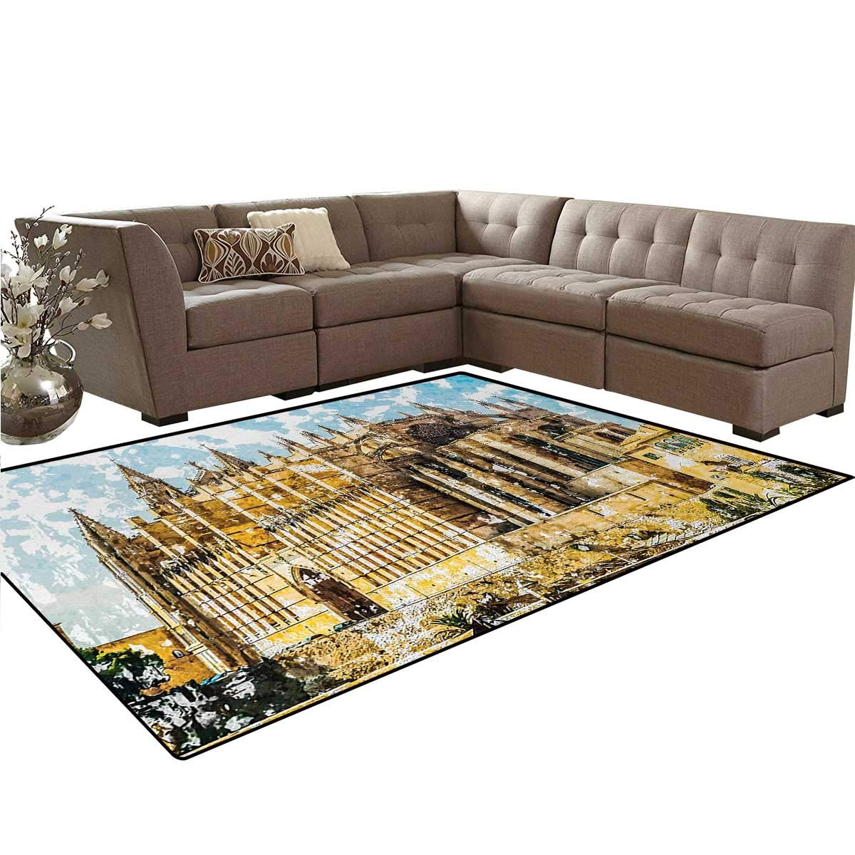 Amazon.com: Gothic, Rug, Big Gothic Building Sea Shore ...