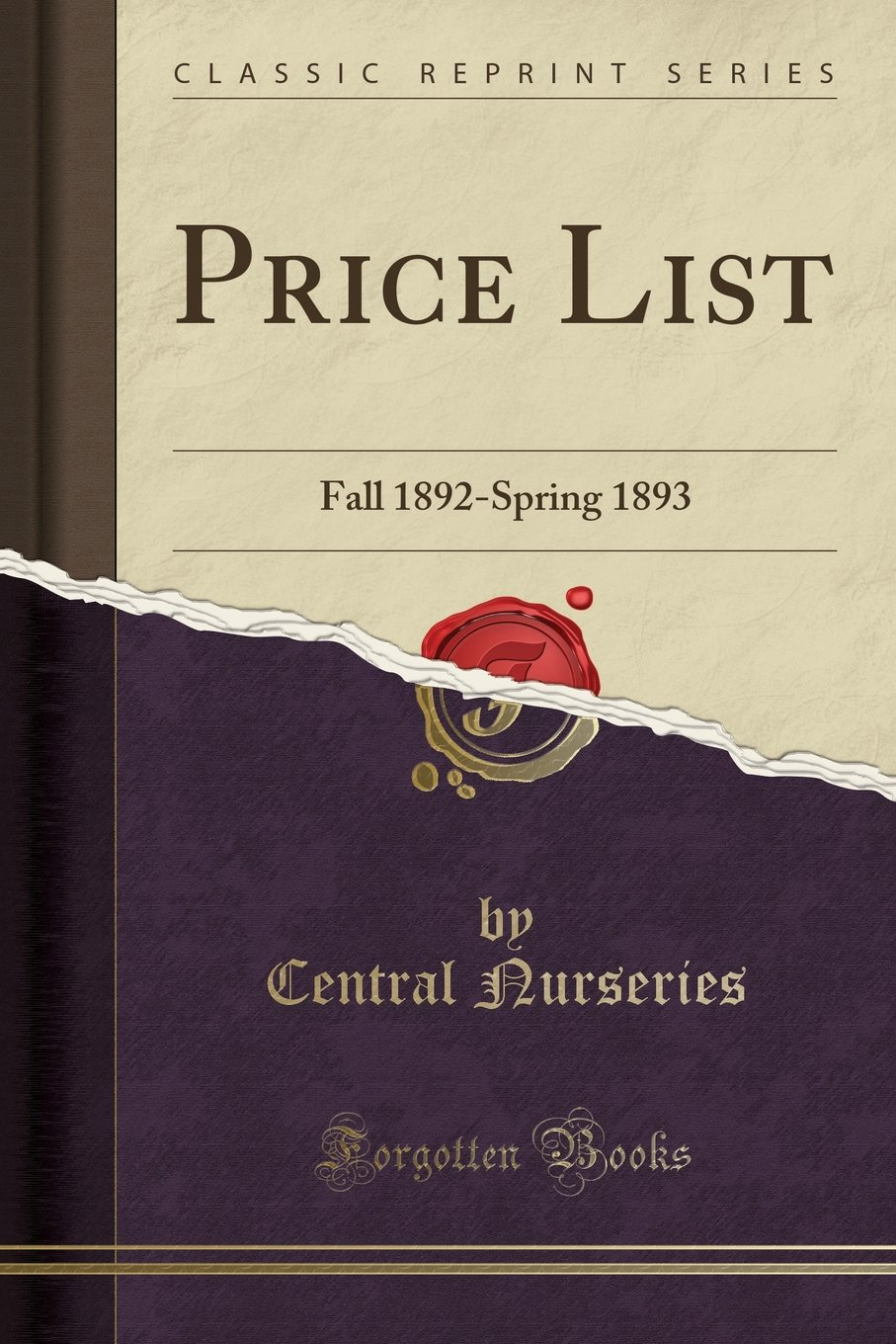 Read Online Price List: Fall 1892-Spring 1893 (Classic Reprint) ebook